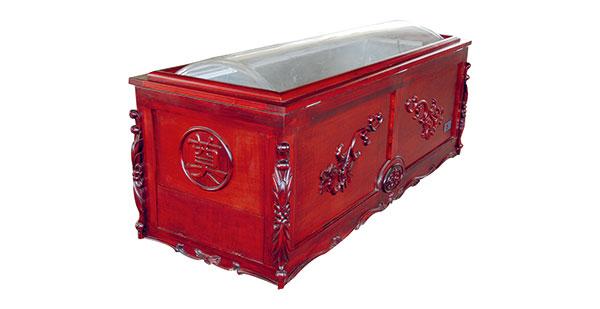 实木冷藏瞻仰棺
